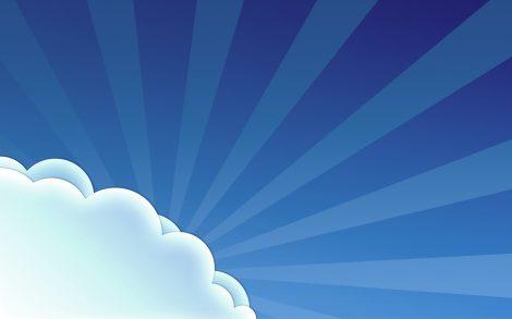 Wallpaper Sencillo de Dibujo de Nubes
