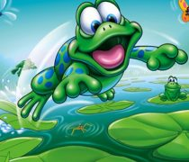 Wallpapers Infantiles. Ranita Divertida.